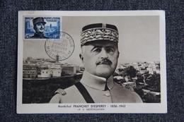 MOSTAGANEM - Maréchal FRANCHET D'ESPEREY  , Le 25 MAI 1956 - Cartoline Maximum