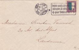 Pro-Juventute No J23 Sur Lettre Oblitérée Genève Le 30.XII.1922 - Briefe U. Dokumente
