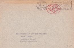 Empreinte Mécanique Ovale P 20 P Sur Lettre Oblitérée Le 29.IX.35 - Affranchissements Mécaniques