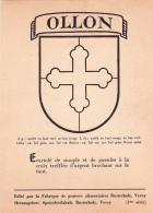 Armoiries De La Commune D'Ollon Sur Carte Postale éditée Par La Fabrique De Graisses Alimentaires Rusterholz à Vevey - Cartes Postales