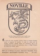 Armoiries De La Commune De Noville Sur Carte Postale éditée Par La Fabrique De Graisses Alimentaires Rusterholz à Vevey - Cartes Postales
