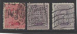 België Albert I Nrs 138 En 139 Met Firmaperforatie - Perforés