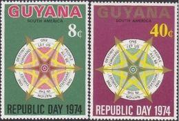 Guyana , 1974 , Republic Day , Jour De La Republique - Feste