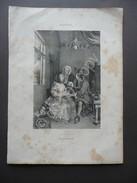 Incisione Litografia L'Artiste Le Medicin Bida Bernard E Fieres Metà 1800 - Estampes & Gravures