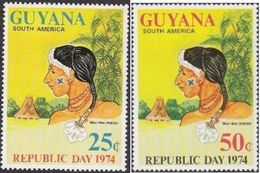 Guyana , 1974 , Republic Day , Jour De La Republique , Wai Wai Indian - Kulturen