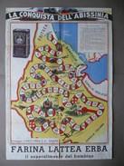 Gioco La Conquista Dell'Abissinia Carlo Erba Milano Completo Segnaposti 1936 - Vieux Papiers