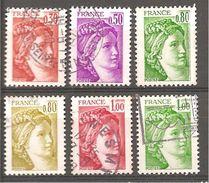FRANCE 1968 à 1973 Oblitéré Rond - 1977-81 Sabine Of Gandon
