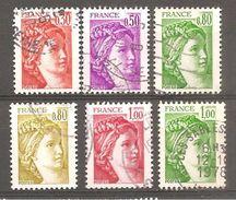 FRANCE    1968 / 1973 Oblitéré Rond - 1977-81 Sabine Of Gandon