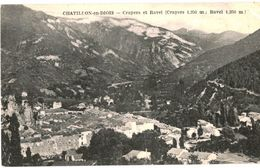 CPA N°8200 - LOT DE 3 CARTES DE CHATILLON EN DIOIS - CRAYERS ET RAVEL + LE PONT DE BAIN + LES TUNNELS DES GATS - Châtillon-en-Diois