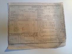 CHEMIN DE FER DU MIDI, Récépissé Pour Destinataire,1869 - Non Classés