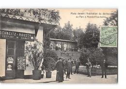 CPA Luxembourg Mondorf Les Bains Place Devant L'habitation Du Docteur - Mondorf-les-Bains