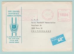 Th13 Football = EMA The Israel Football Association  Tel Aviv 11.4.85 Pour Bern - Covers & Documents