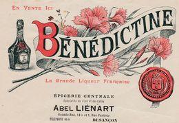 Petite Facture Couleur / Bénédictine / 1912 / Abel LIENART / Epicerie / 25 Besançon Doubs - Luxemburgo