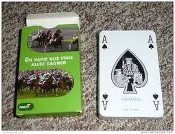 Rare Jeu De Cartes Publicitaire Neuf PMU, Joker As De Pique, Ace Of Spade - 54 Cartes