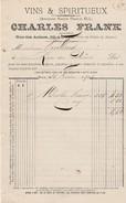 Petite Facture ABSINTHE Pernod 1903 / Charles FRANCK / Vins & Spiritueux / Rue Des Arènes à Dole / 39 Jura - Lussemburgo