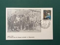 """POLITICA  RESISTENZA 1944 COMANDO 36 BRIGATA GARIBALDI """"A.BIANCONCINI"""" CARTOLINA  ED ANNULLO  SPECIALE - Eventi"""