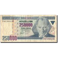 Turquie, 250,000 Lira, 1970, KM:207, 1970, TB - Turquie