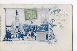 SAN SALVADOR / ESTATUA DE MORAZAN / RARE ++ ET  TRES BELLE CARTE AFFRANCHIE 1905 - El Salvador