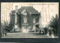 CPA - ST HILAIRE AU TEMPLE - Le Château, Animé - Other Municipalities