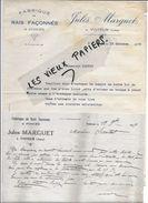 39 - Jura - VOITEUR - Facture MARGUET - Fabrique De Rais Façonnés Et Poncés - 1929 - REF 74B - 1900 – 1949