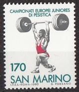 1073 San Marino 1980 Campionati Sollevamento Pesi Nuovo MNH - Pesistica