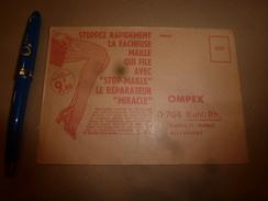 1956 Enveloppe Publicitaire  STOP-MAILLE Et  PORTE-CLES De Sécurité TWISTY - Advertising