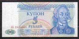 537-Transnistria Billet De 5 Roubles 1994 Ab241 - Billets