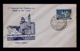 """S.PAULO - Brazil - Foundateur Of City"" Fdcover 1954 Portugal P.e MANUEL DA NOBREGA INDIA Goa Sp4623 - Theologians"