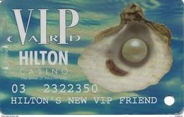 Atlantic City Hilton Casino - 5th Issue Slot Card - Hologram Background - Hilton's New VIP Friend - Casino Cards