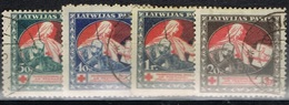 DO 5708  LITOUWEN  GESTEMPELD YVERT NR 55/58 ZIE SCAN - Lituanie