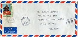 KAMPUCHEA LETTRE PAR AVION DEPART PHNOM PENH RP KAMPUCHEA 11-11-91 POUR LA FRANCE - Kampuchea
