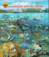 UNO MNH International Year Of The Ocean Sheetlets, All 3 Issues - Marine Life