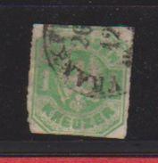 Prusse / N 23 / 1 K  Vert / Oblitéré  + Charnière / Côte 60 € - Preussen