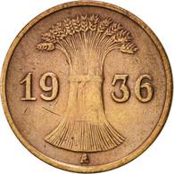 Allemagne, République De Weimar, Reichspfennig, 1936, Berlin, TTB, Bronze - 1 Rentenpfennig & 1 Reichspfennig