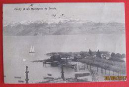 LAUSANNE - Ouchy Et Les Montagnes De Savoie CPA 1908 - VD Vaud