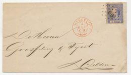 Emissie 1867 Puntstempel 56  - Takjestempel Hengelo - Delden 1869 - Period 1852-1890 (Willem III)