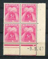 4472 - FRANCE   Taxe  N° 85 **   5F Rose-lilas  Du   9.9.47       TB - Coins Datés