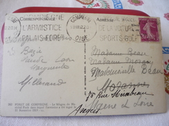 Compiègne 18/VIII/1922 Sur CP Wagon De L'Armistice - Postmark Collection (Covers)