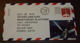 Cover Brief Space, Weltraum Interplanetary Monitoring Platform 1973  #cover3583 - Briefe U. Dokumente