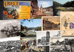 Lot +70 Cartes Postales (animation, Tram, Belgique, US, France, Suisse Luxembourg, Folklore, Chats, Photo....) - Cartes Postales