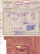 FACTURE + LAISSER PASSER CONGE  ETABLISSEMENTS CHATARD Spiritueux  *2 TIMBRES *FISCAL + *CACHET Vichy 1925 161 - Levensmiddelen