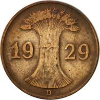 Allemagne, République De Weimar, Reichspfennig, 1929, Munich, TTB, Bronze - 1 Rentenpfennig & 1 Reichspfennig