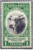 Costa Rica 1950 - Buffalo ( Mi 460 - YT Pa 196 ) MNH**  Airmail - Mucche