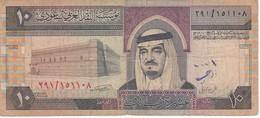 BILLETE DE ARABIA SAUDITA DE 10 RIYAL DEL AÑO 1983   (BANKNOTE) - Arabia Saudita