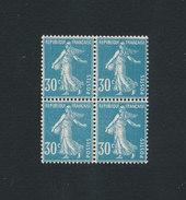 FRANCE - Bloc De 4 Semeuse 30cts Bleu Yvert N° 192** Neufs Sans Charnière MNH - France