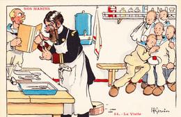 CPA Nos Marins La Visite Médecine Toubib Docteur  Illustrateur H. GERVESE - Gervese, H.