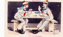 CPA Nos Marins La Petite Partie Jeu De Cartes Cartes à Jouer Playing Cards Illustrateur H. GERVESE - Gervese, H.