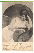 CPA-1907-ILLUST-F.DUFAUX-LE ROMAN-UNE JEUNE FEMME QUI LIT- - Illustrateurs & Photographes