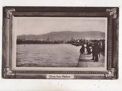 Girvan From Harbour Ayrshire 1911 RP Postcard Scotland 660b - Ayrshire