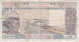 BILLETE DE BENIN DE 5000 FRANCS DEL AÑO 1987  (BANK NOTE) - Bénin